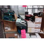 Lot of (4) bar code scanners, (4) encoders, and (4) battery charger cradles