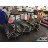 Lot of (3) stainless steel clean room pallet jacks, 5500 lb capacity