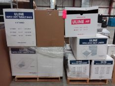 Uline 5/16 in. 8 x 11 bubble pouches (1) box @ 250/box, (4) boxes 5/16 in. 12 in. x 15 in. @ 125/