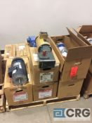 Lot of (12) assorted 1 hp motors, (1) Leeson, (5) Baldor, and (6) Sumitomo