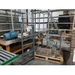(1) 4 ft. step up metal ladder, and (1) metal roof/dock ladder