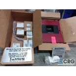 Five Alarm control panel with accessories including smoke detectors, alarm bell, horn, strobes,