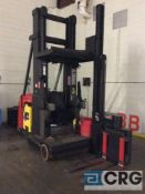 Raymond SA-CSR30T electric swing reach turret narrow aisle forklift, 48 volt, 3000 lb capacity,