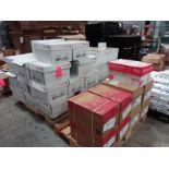 (46) boxes copy paper @ 8 1/2 x 14 @ 5,000 sheets/box, and (9) boxes 8 1/2 x 11 @ 5,000 sheets/box