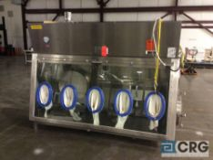 2005 Walker CPS Barrier 8 ft. 316 stainless steel glove box isolation chamber, with 16 in. x 16