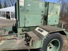 Towable military generator, m/n MEP005A, 30 kva, Mfg. 12-1979, s/n KZo0647
