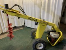 Ground Hog HD99 hydraulic post digger with auger, s/n 804132