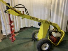 Ground Hog HD99 hydraulic post digger with auger, s/n 402107