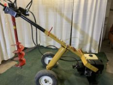 Compac PHD hydraulic post digger with auger, s/n 1205