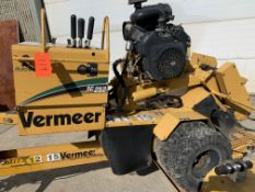 Vermeer SC 252 stump grinder, 1079 hours, with trailer, s/n 1VRN071F7B1016052