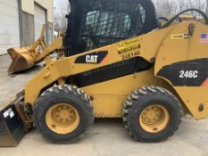Cat 246C skid steer loader, 1,975 hours, new tires, built in 2013, s/n OJAY07990