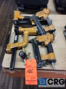 Lot of assorted Bostitch pneumatic staplers