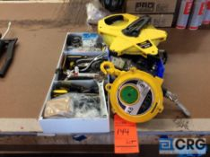 Lot of assorted tools, to include screwdrivers, putty knives, wrenches, Stanley Power Winder 300 ft