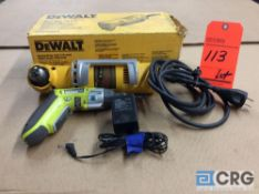 Lot of (1) DeWALT right angle drill m/n DW160V 3/8 in., (1) RYOBI lithium 4V m/n HP41L cordless