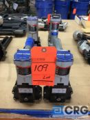 Lot of assorted Spotnail pneumatic staple guns from 1/2 in. max length to 3/4 in. max length