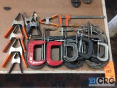 Lot of assorted clamps