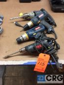 Lot of (4) assorted drills