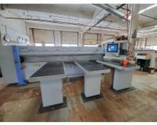 2013 Holzma HPP 20/38/38 front loading CNC panel sizing saw, P series plastic option, quick change