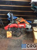 Lot including (1) Milwaukee 4 1/2 in. grinder m/n 6121-31, (1) rigid m/n R7111 corded 1/2 in. chuck,