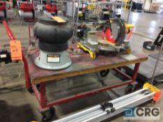 Dayton work platform cart 30 in. x 60 in., adjustable frame, 1200 lbs capacity m/n 4ZZ66 (contents
