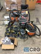 Lot consists of (10) assorted wet/dry vacuums, 2.5 gallons to 16 gallons capacity