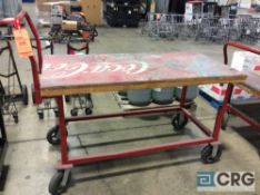 Dayton work platform cart 30 in. x 60 in., adjustable frame, 1200 lbs capacity m/n 4ZZ66
