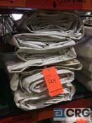 Lot of (6) 8 ft. x 22 ft. solid sidewalls, 2 ft. lap and snap