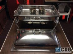 Lot of (2) 8 Qt silver plated rectangular chafing dishes, 12 x 20