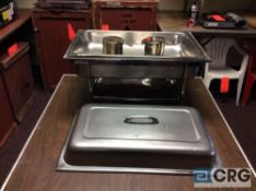 Lot of (5) 8 Qt rectangular stainless chafing dishes, 12 x 20