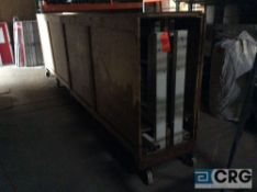 Fiber Tech French double doors with portable storage crate