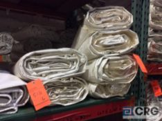 Lot of (6) 8 ft. x 34 ft. cathedral sidewalls, 2 ft. lap and snap