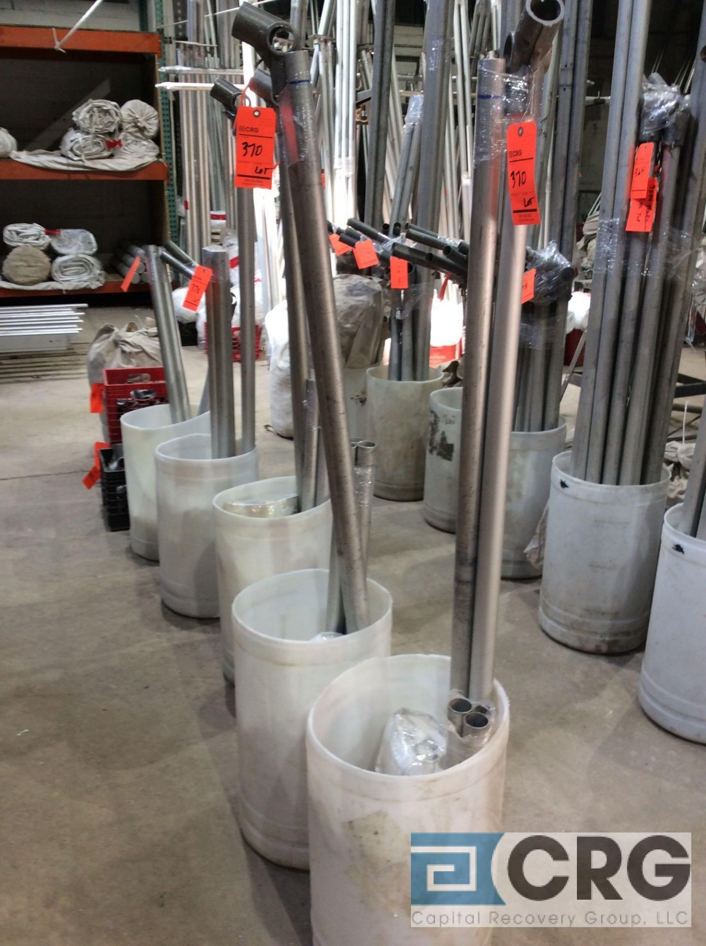 Lot 370 - Lot of (5) Fiesta Marquee mid section exp. - no poles or pins, (2) 9 ft. x 2 ft., (2) 9 ft. x 3