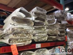 Lot of (28) 8 ft. x 22 ft. clear sidewalls, 2 ft. lap and snap
