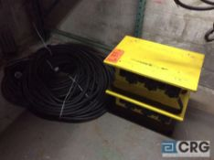 Lot of (2) CEP 6506-GU portable power distribution units, with heavy duty power cord