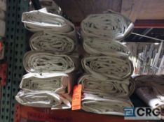 Lot of (10) 9 ft. x 22 ft. solid sidewalls, 2 ft. lap and snap