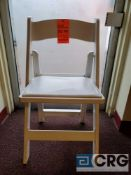 Lot of (100) white resin, padded seat, folding chairs, with storage bags