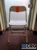Lot of (87) metal and plastic white folding chairs