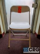 Lot of (100) metal and plastic white folding chairs