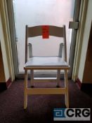 Lot of (100) white resin, padded seat, folding chairs, with storage bags, with storage bags