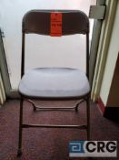 Lot of (100) metal and plastic beige folding chairs