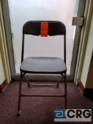 Lot of (61) metal and plastic brown folding chairs