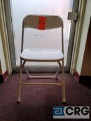 Lot of (200) metal and plastic white folding chairs
