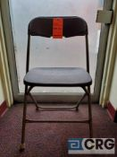 Lot of (100) metal and plastic brown folding chairs