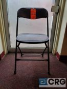 Lot of (72) metal and plastic black folding chairs