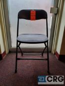 Lot of (100) metal and plastic black folding chairs