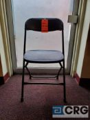 Lot of (200) metal and plastic black folding chairs