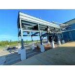 40' X 15' (4) hopper truck loading station, structural steel construction, pneumatic discharge gates
