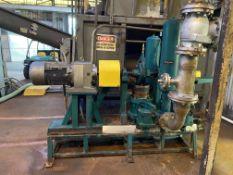 Wastecorp Sludgemaster Simplex Mn PE942-SBV twin cylinder plunger pump with 25 HP drive