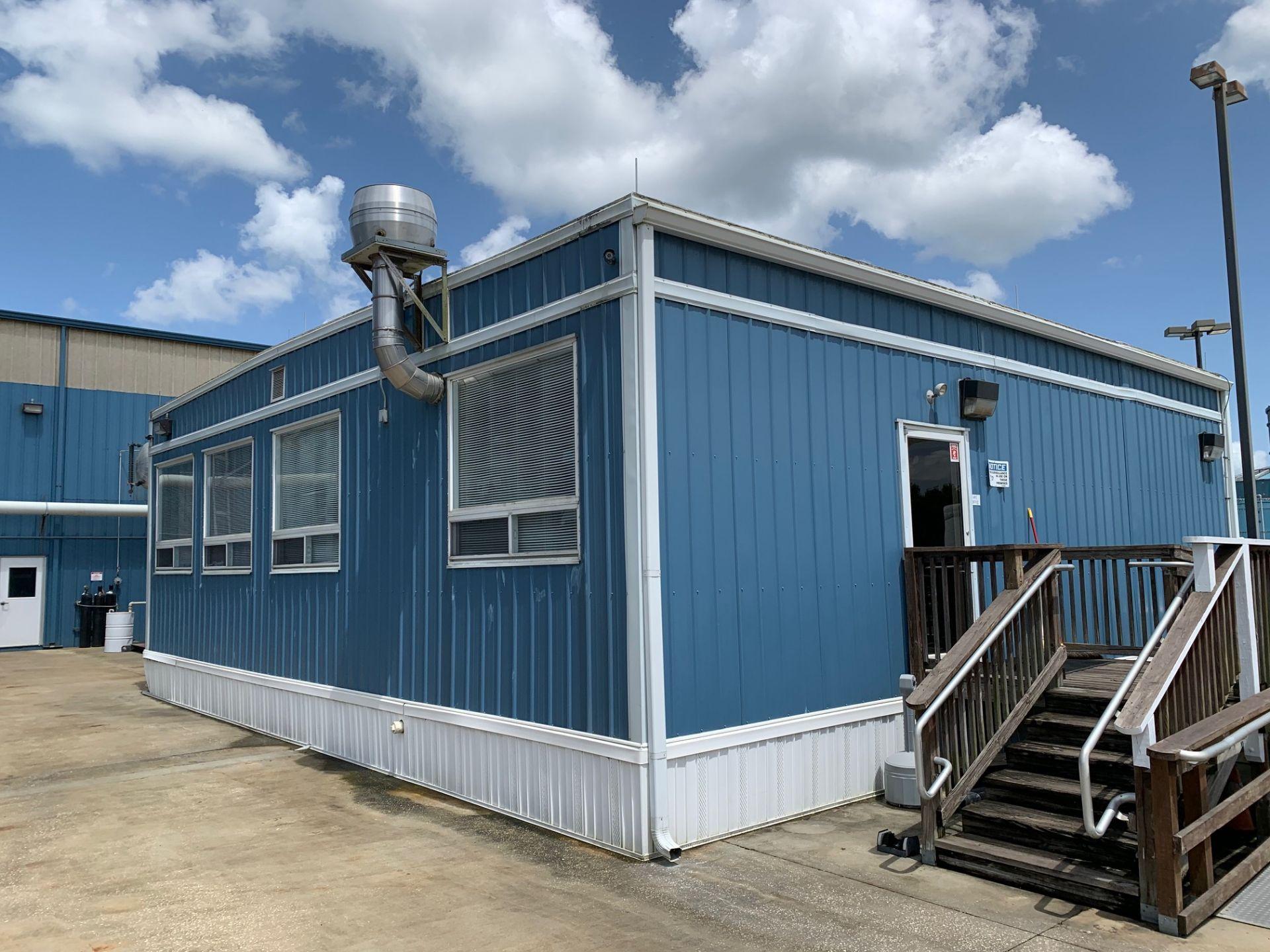 Lot 171 - 2013 24' X 48' portable building (office building) on steel skids, ADA compliant bathroom, (3)