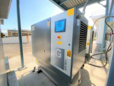 2019 Atlas Copco GA 18FF 24 HP rotary screw air compressors with built in refrigerated air dryers